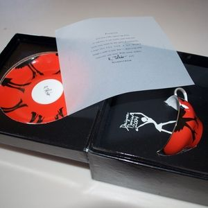 Nordstrom R. Toledo Red Legs Cup Saucer 2004 Boxed